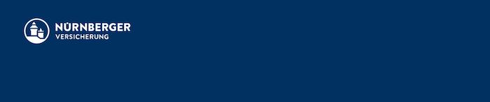 Nürnberger Versicherung Header blau