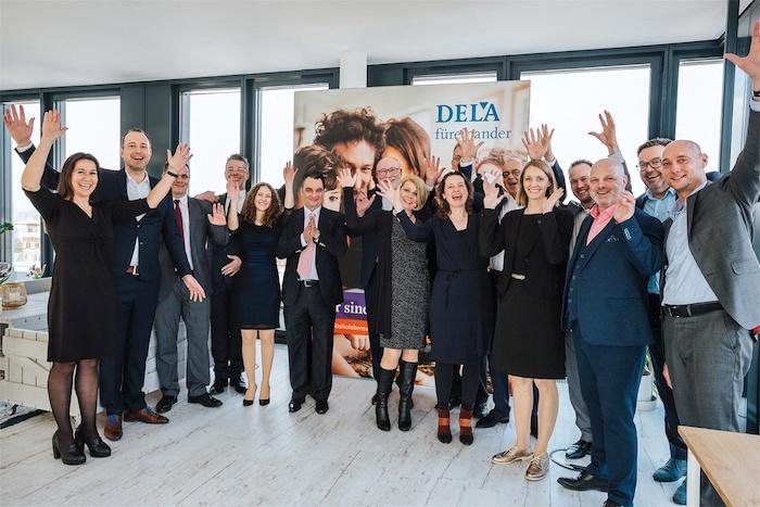 Das Team der DELA Lebensversicherungen in Düsseldorf